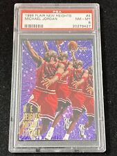 1995-96 Flair New Heights #4 Michael Jordan PSA 8 NM-MT