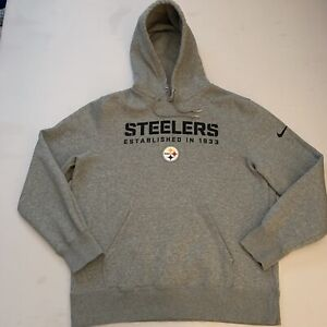 NWOT Nike NFL Training Pittsburgh Steelers Heavy Hoodie Sweatshirt XL Gray New