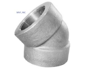 """1-1/4"""" 3000# Threaded (NPT) 45° Elbow A105 Forged Steel Pipe Fitting <FS020721NS"""