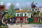 Framed canvas art print glicee Le maquis de Montmartre