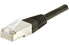 Promotion : Câble réseau ethernet RJ45 blindé FTP gigabyte (cat.6) 10m Noir