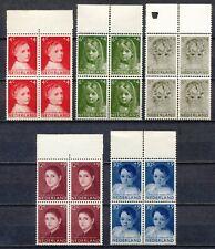 KINDERZEGELS 1957 - KINDERPORTRETTEN - POSTFRISSE BLOKKEN VAN 4           Hk606i