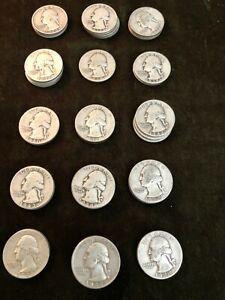 1930s & 1940 Silver Liberty Quarters (49 Total)