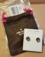 New Authentic Kate Spade NY GumDrop Black Diamond Studs Earrings O0RU0667