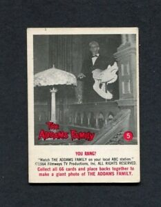 1964 The Addams Family TV Show Donruss Trading Card Number 5 Lurch You Rang?