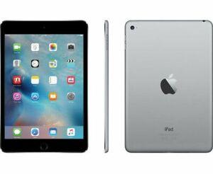 Apple iPad mini 4, 4th Gen 128GB Wi-Fi + 4G Cellular Unlocked All Carriers Gray