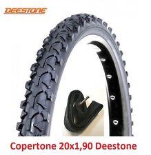 """1 Copertone Nero 20x1,90 Deestone + 1 Camera d'aria per Bici 20"""" BMX Freestyle"""