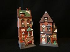 """Dept 56 Christmas in the City """"West Village Shops"""" retired 1996, see listing"""