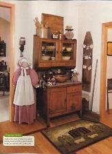 Vacuum Cleaner Cover Primitive Amish Faceless Folkart Grandma - Homespun red/crm