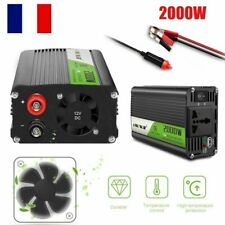 ONEVER Voiture Ondulateur Convertisseur pur sinus 2000W 12V AC 220V USB Chargeur