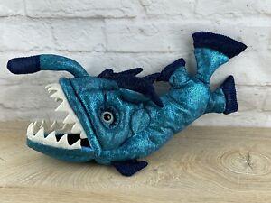 "15"" Folkmanis Anglerfish Hand Puppet Blue"