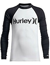 Hurley One And Only Ls Rashguard (M) Blanches Noires