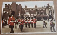 Postcard St Jame's Palace London Changing Of The Guard posted 1937   A001