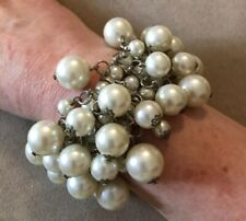 Gorgeous Cluster Beaded Stretch Pearl Bracelets #512