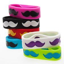 Jumbo Mustache Rubber Bracelets 1dz party favors Toys Birthday Kids Prizes NEW