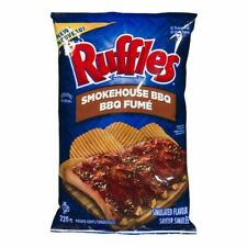 4 Bags Ruffles SMOKEHOSE BBQ Chips Size 220g From Canada - FRESH & DELICIOUS!