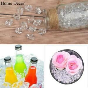 100/200X Artificial Clear Ice Cube Fake Crushed Ice Rocks Ice Cubes Acrylic Vase