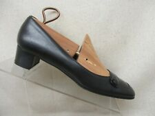 Salvatore Ferragamo Black Leather Pump Dress Shoes Boot Size 8.5 4A GUC