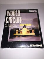 VINTAGE MicroProse World Circuit Grand Prix Simulation CD Rom PC Game Sealed NIB