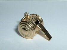 14K YELLOW GOLD 3D WHISTLE CHARM NICE SOUND