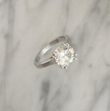 3.00 Ct Round Cut Bridal Moissanite Engagement Ring 14K Real White Gold Size 8