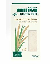 Amisa Organic Brown Rice Flour Gluten Free Organic Food 500g