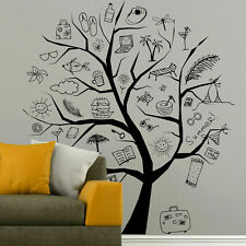 I180 Wall Decal Sticker Tree kids summer school vacation studying class