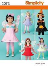 SIMPLICITY PATTERN 2073 TODDLER FAIRY WITCH FLAPPER HALLOWEEN COSTUMES SZ 1/2-4