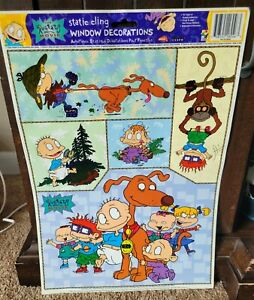 RUGRATS  Static Window Clings Decorations 1998 Never Used!
