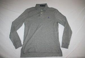 Ralph Lauren Polo Long Sleeve Shirt Slim Fit Men M Gray NEW