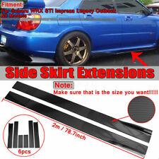 For Subaru Impreza WRX STI Legacy Carbon Fiber Look Side Skirts Rocker Extension