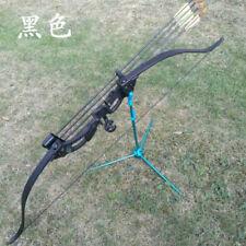 "48"" Recurve Bow W/ 20lbs 28"" Draw For Women Children Archery Bows Black"