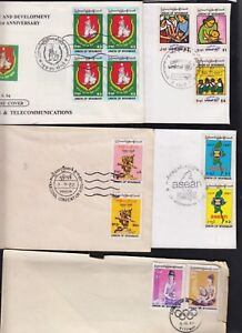 5 MYANMAR FDC COVERS