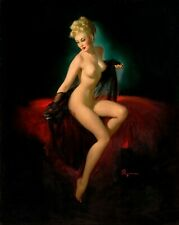 """Gil Elvgren Vintage Painting Poster or Canvas Print """"Vision of Beauty"""" #23"""