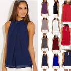 Lot Plus size Women Casual Sleeveless Chiffon Vest Tops T Shirt Loose Blouse