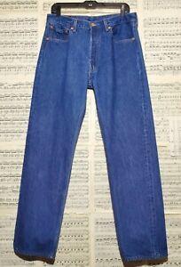 Vintage Levis December 1999 Button Fly 501xx Denim Jeans Limited Edition 34x34