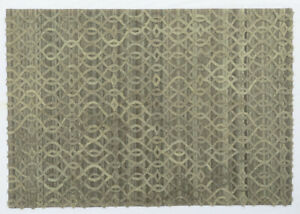 Ashikavin Woolen Carpet (gray,5.3 X 7.6 FT)