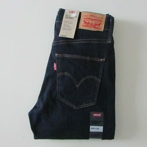 NEW Levi's Slimming Skinny Jeans Womens Size W24 L32 Dark Blue Denim 283990000