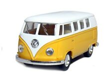 "5"" Kinsmart Classic 1962 Volkswagen Bus Van Diecast Model Toy 1:32 Scale Yellow"