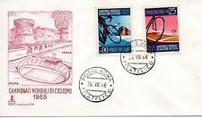 Repubblica Italiana 1968 FDC Capitolium Campionati Mondiali di Ciclismo