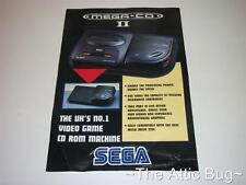 Brochure / Leaflet ~ Sega Mega-CD II ~ 'The UK's No.1 Video Game CD ROM Machine'