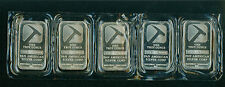 (5) FIVE 1 Oz PAN AMERICAN SILVER BAR 0.99 FINE BULLION SEALED & UNTOUCHED !!