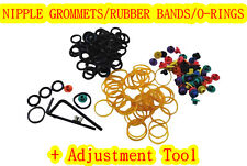 50x NIPPLE GROMMET RUBBER BAND O-RING 1x Adjustment Tool 4 Tattoo Needle Machine