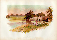 PRINT 105 YEARS OLD ~  BLENHEIM PALACE GROUNDS &C