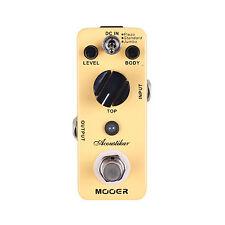 New Mooer Acoustikar Acoustic Guitar Simulator Guitar Effects Pedal!!