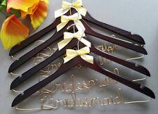 Set of 4 Bridesmaids Custom Wood Wedding Hanger Great Gift