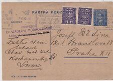 POLAND Uprated Postal Card to Czech o Slovakia of 1929