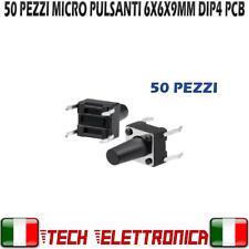 50x Pulsanti 6x6x9 mm Tactile Push Button Switch Circuito stampato PCB Arduino