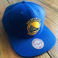 Mitchell & Ness Golden State Warriors NBA Cotton/Wool Blend Snapback Hat EUC