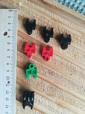 LEGO 5 x Steine 1x1 Clip rund hohl schwarz black brick clip circular 30241b